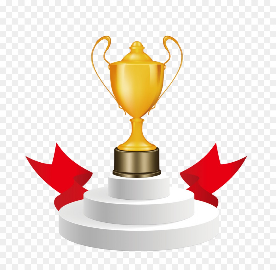 Gold Trophy Vector: Png Trophy Cup Award Clip Art Vector Hand Painted Cart