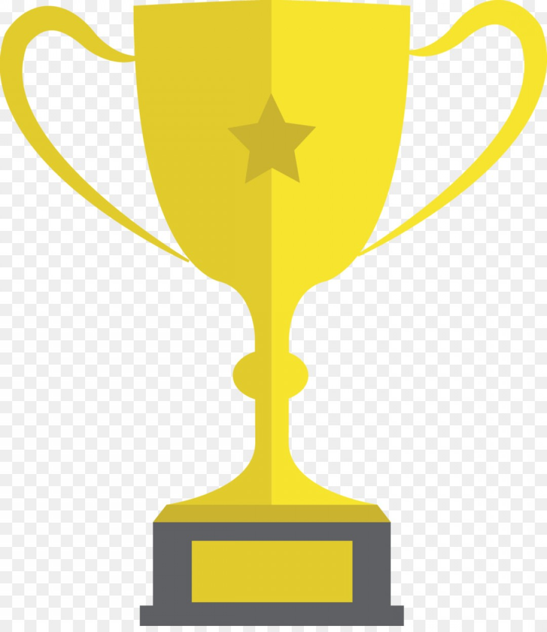 Gold Trophy Vector: Png Trophy Gratis Vector Flat Golden Trophy