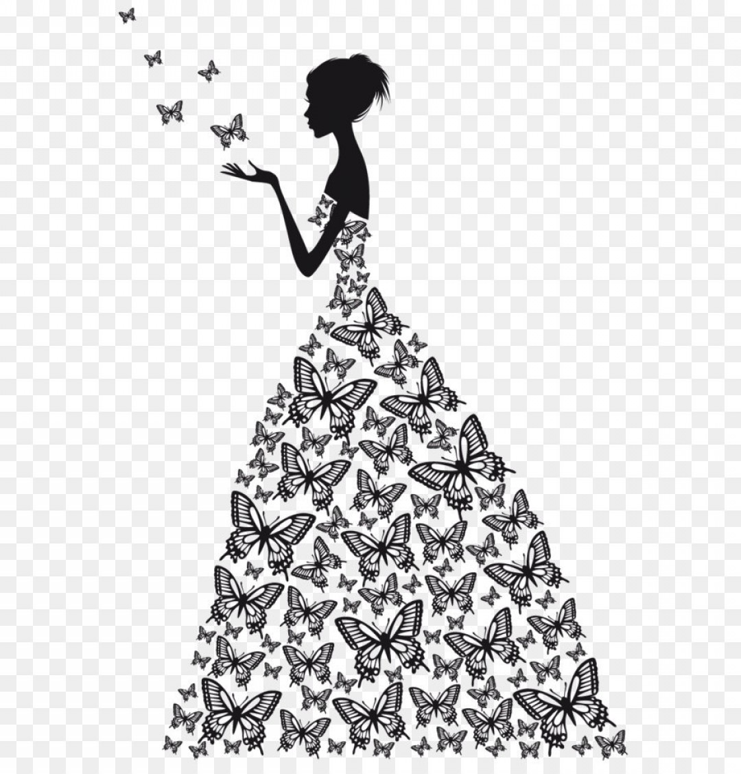 Vector Images Of Black And White Dresses: Png Wedding Dress Sketch Beauty Vector Flat Butterfly