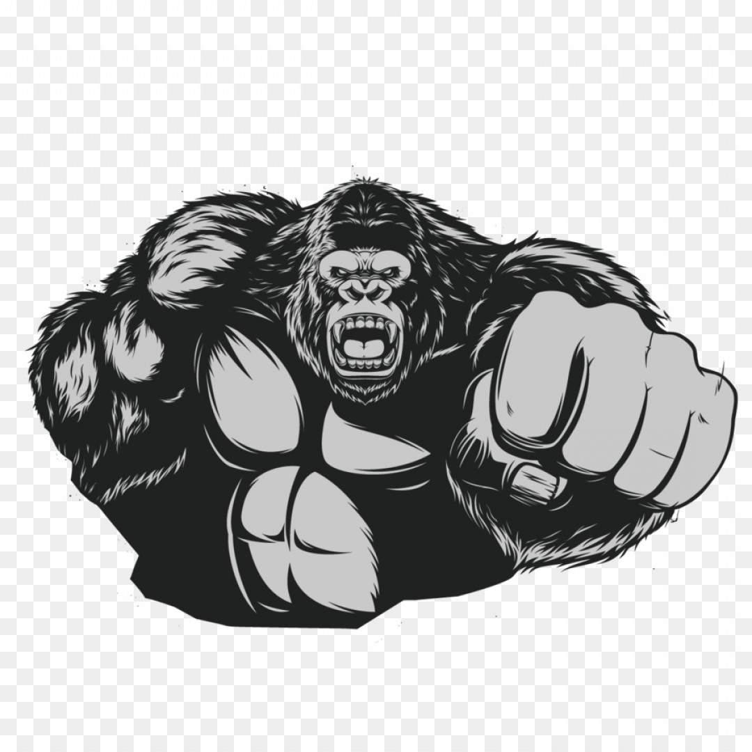 Drawings Of King Kong Vector: Png Western Gorilla Ape King Kong Chimpanzee Muscle Go
