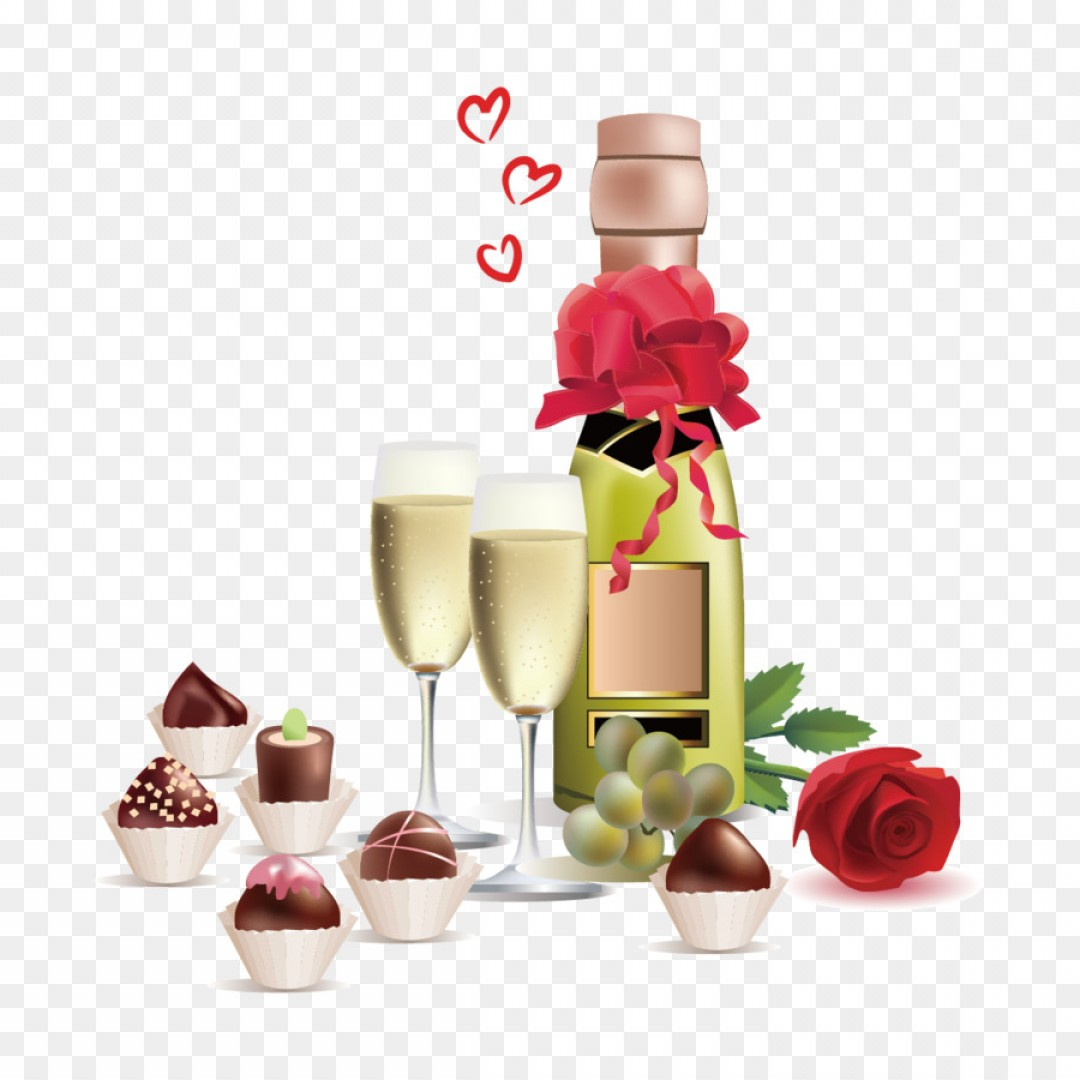 Chocolate Clip Art Vector: Png Wine Champagne Rosxe Fast Food Clip Art Vector Wi