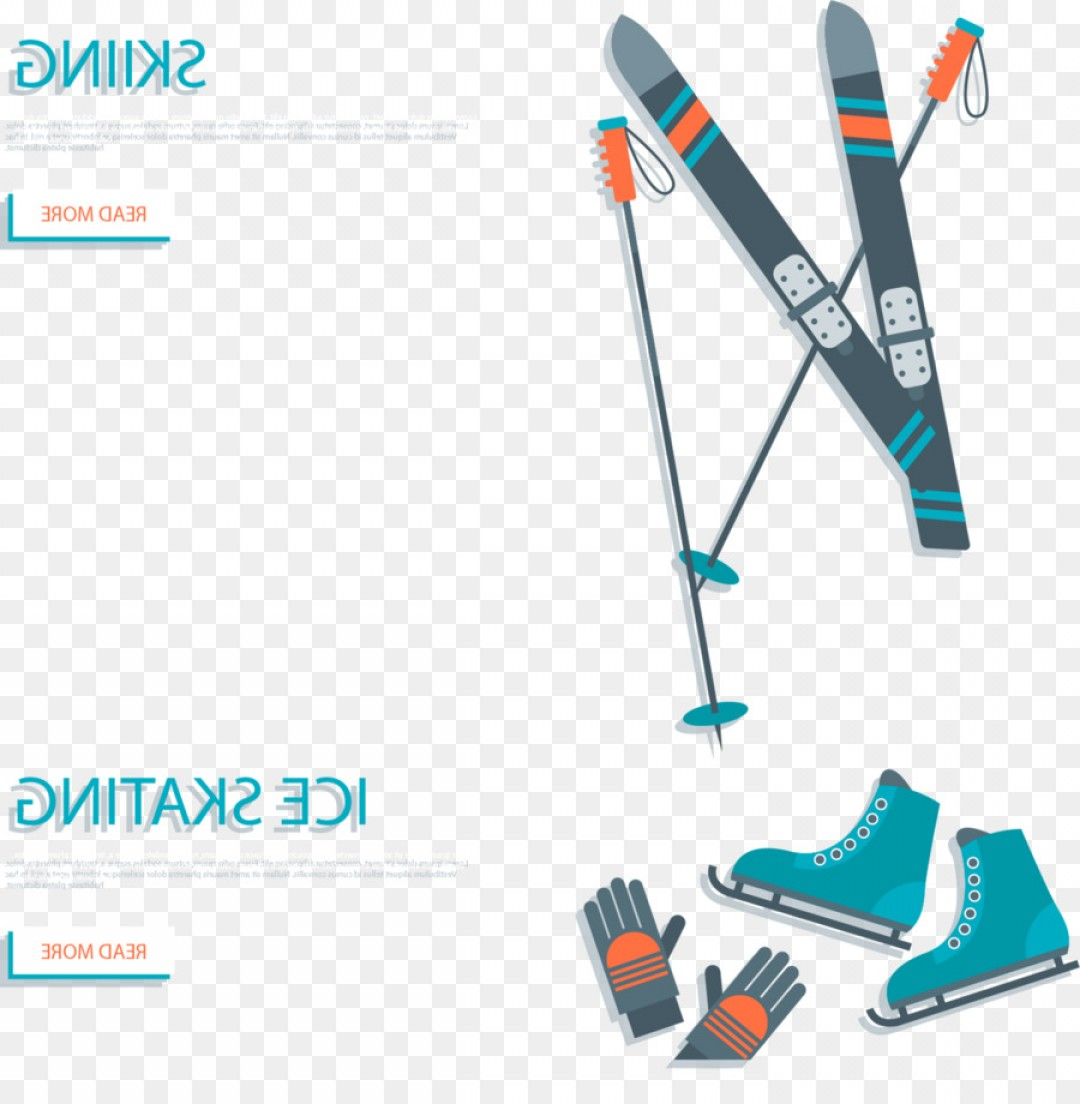Transparent PNG Vector Skier: Png Winter Sport Skiing Poster Snowboarding Vector Ski