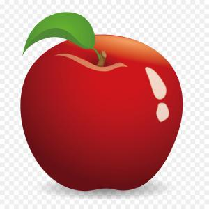 Red Apple Vector Logo: Abstract Origami Red Apple Vector