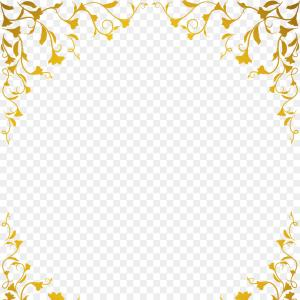 Square Gold Frame Vector PNG: Png Euclidean Vector Computer File Ornate Gold Frame V