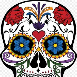 Mexican Dresses Clip Art Vector: Png Calavera T Shirt Day Of The Dead Skull Mexican Cui