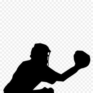 Baseball Catcher Silhouette Vector: Png Catcher Baseball Clip Art