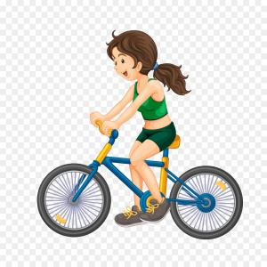Indoor Cycling Bike Vector: Sketch Woman On Exercise Bicycle Isolated