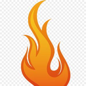 Fire Clip Art Vector: Abstract Fire Flame Vector Clipart