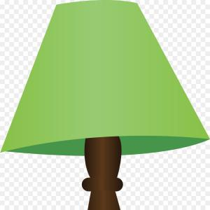 Vector Table With Lamp: A Red Table Lamp Vector