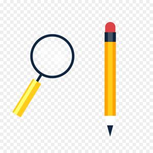 Broken Pencil Vector: Thin Line Pencil Icon Vector