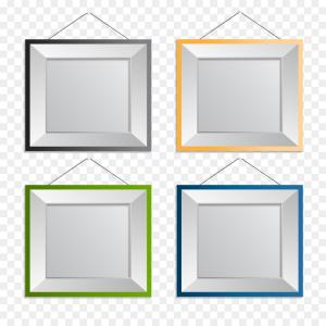 Square Gold Frame Vector PNG: Png Vector Gold Award Winning Border Decoration