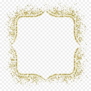 Square Gold Frame Vector PNG: Png Picture Frame Square Inc Pattern Hand Painted Gold
