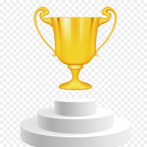 Ice Champions Cup Vector: Png Trophy Award Clip Art Vector Gold Trophy Champion