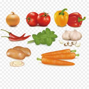 Vector Fruit Vegetable: Thanksgiving Day Holiday Still Life With Fruit Vegetables Turkey Vector Clipart