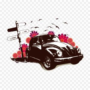 Iron Beetle Vector: Png Volkswagen Beetle Car Volkswagen New Beetle Poster