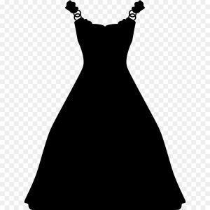 Vector Images Of Black And White Dresses: Photostock Vector Bride Silhouette Wedding Illustration The Bride In A White Bridal Dress Gown With Black Abstract Flo