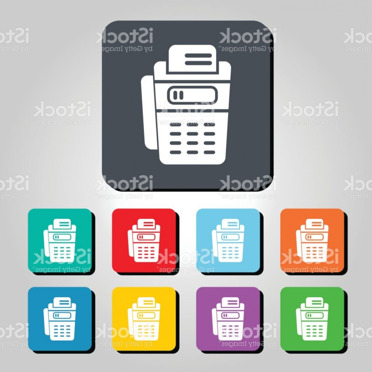 Point Of Sale Icon Vector: Point Of Sale Pos Terminal Vector Icon Illustration Gm