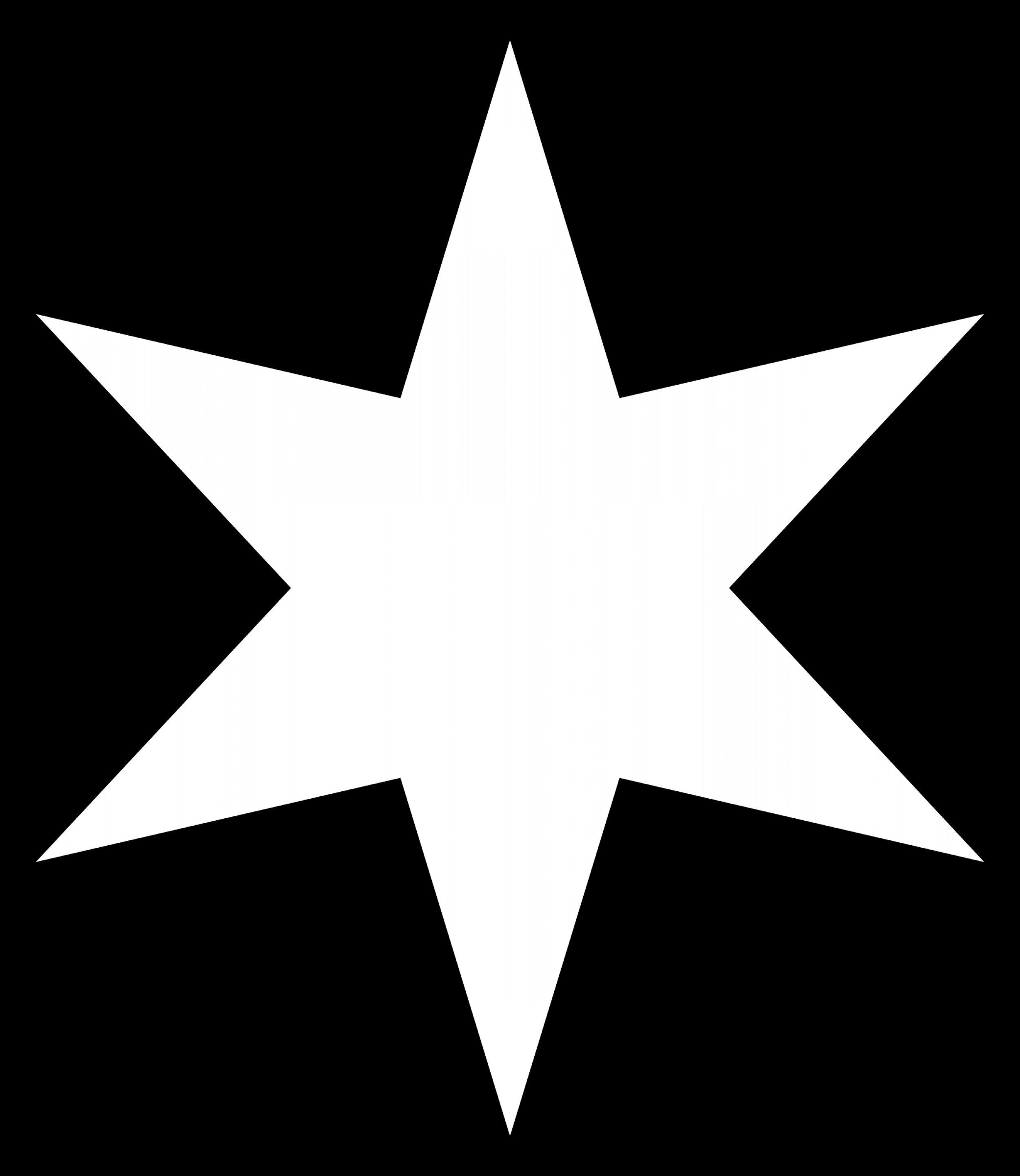 4 Point Nautical Star Vector: Point Star Clipart Black And White