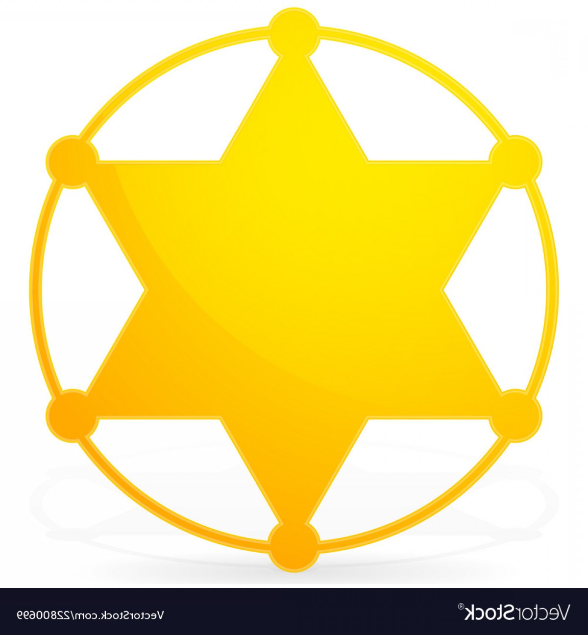 Star Badge Vector: Pointed Sheriff Star Badge Vector
