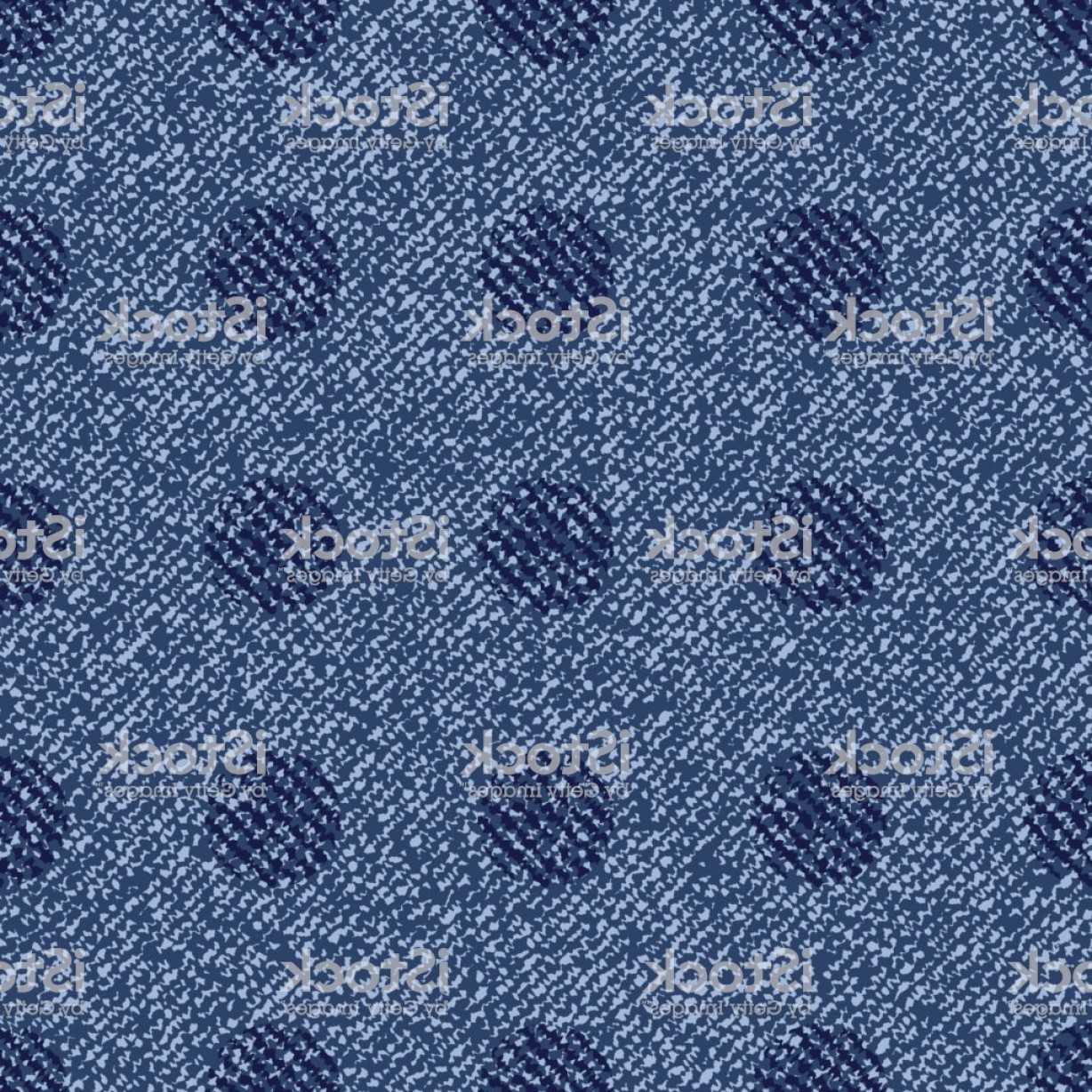 Denim And Pearls Vector: Polka Dots Background Vector Denim Seamless Pattern Blue Jeans Cloth Gm