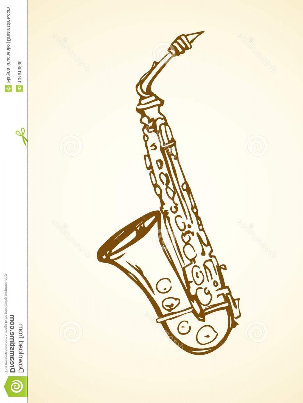 Alto Saxophone Vector Graphics: Pool Vector Drawing Old Mouthpiece Sax Isolated White Space Text Freehand Line Black Ink Hand Drawn Logo Emblem Sketchy Image