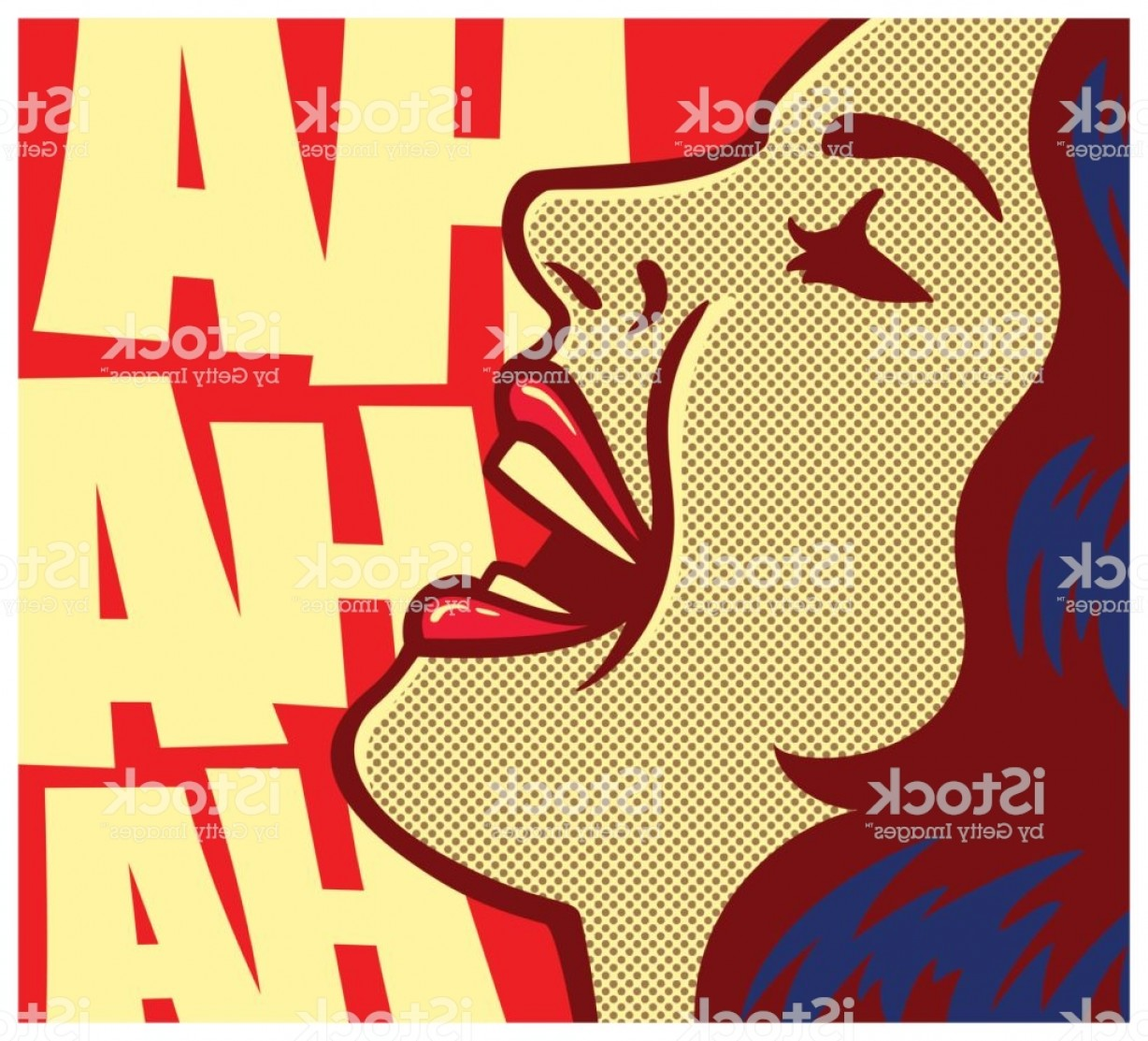 Comic Book Vector Graphics: Pop Art Comic Book Woman Laughing Out Loud Vector Illustration Gm