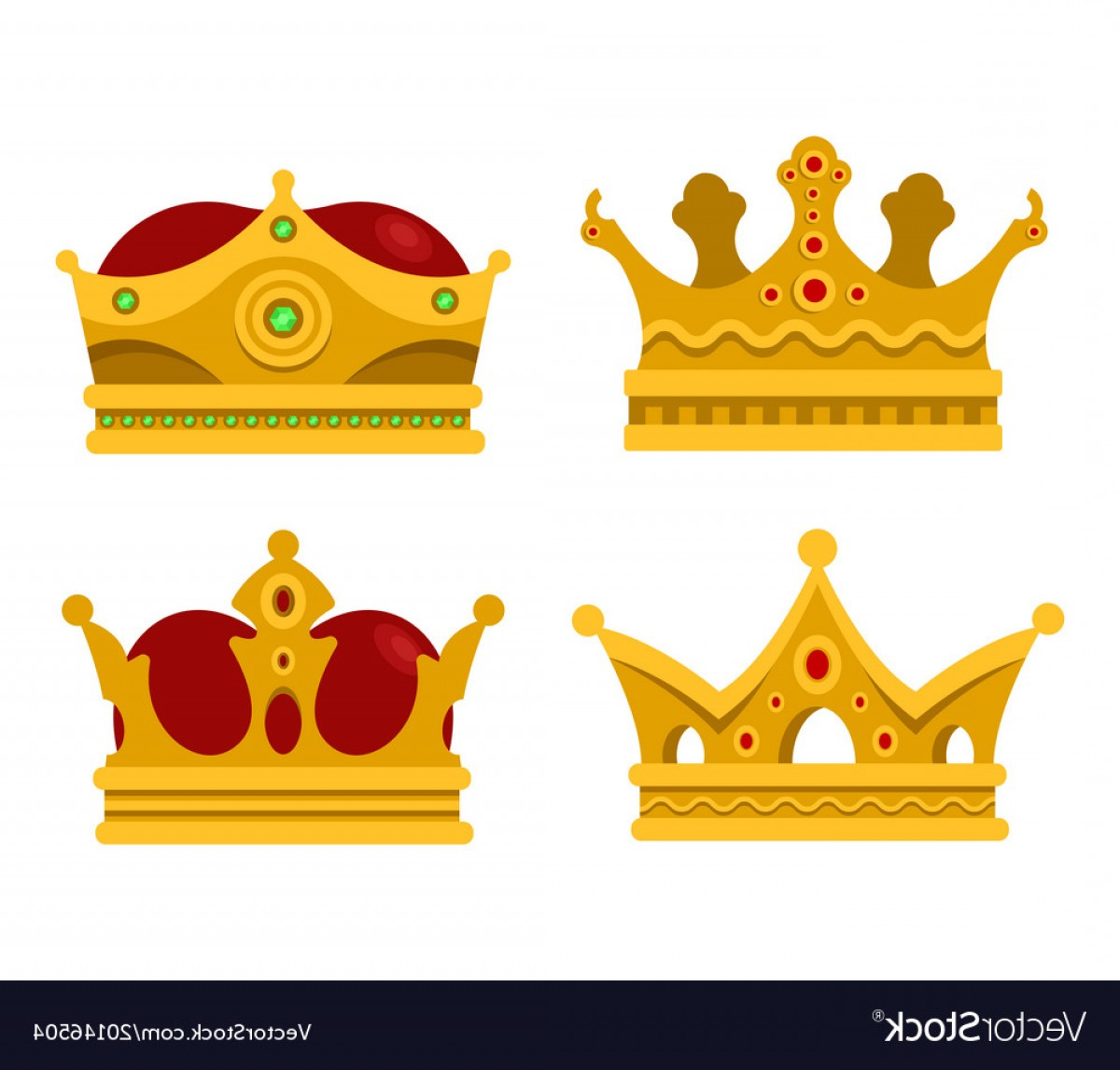 Crown Vector Clip Art: Pope Tiara And King Crown Set Of Icons Vector