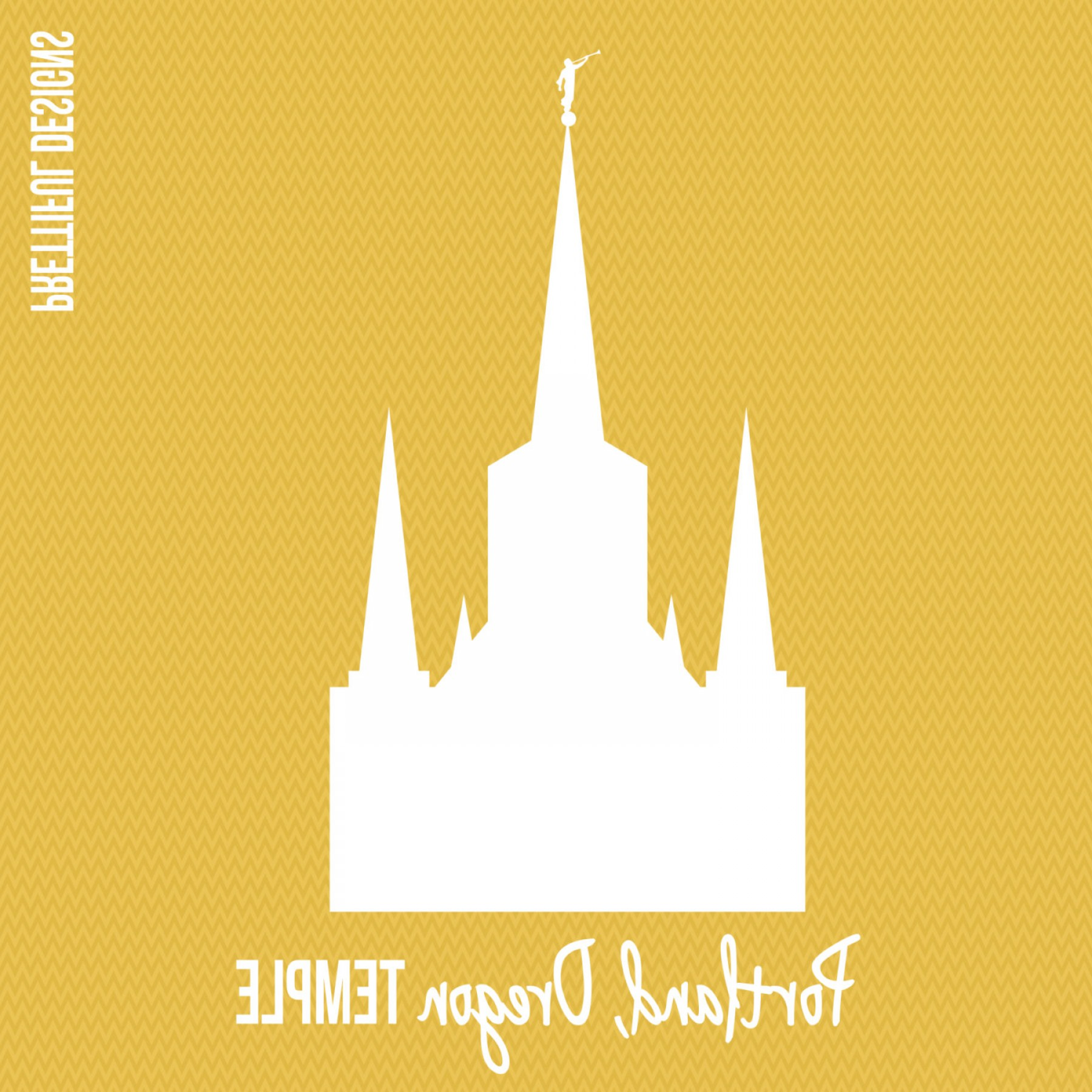 Salt Lake City Temple Vector: Portland Oregon Temple Lds Mormon Clip