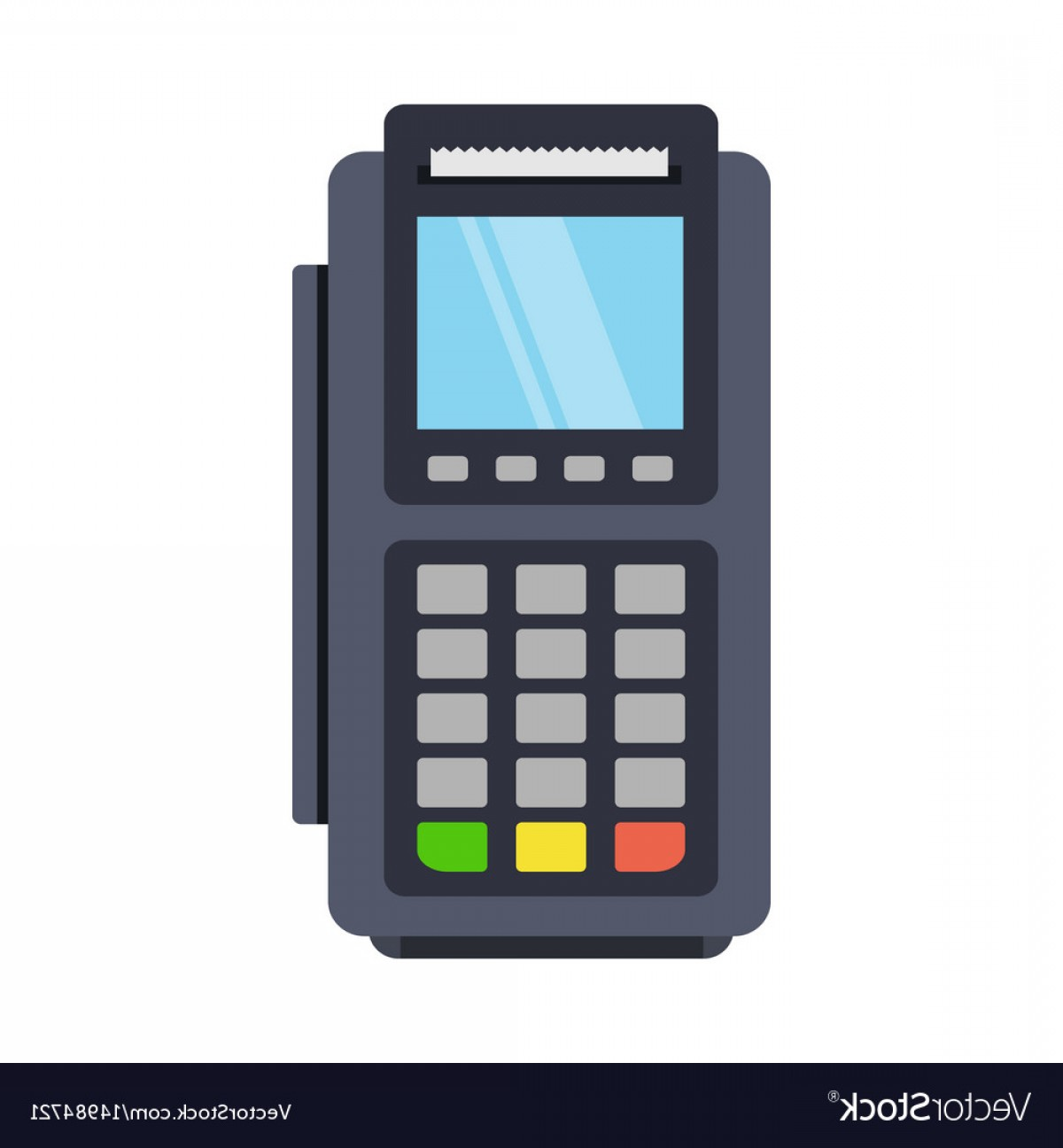 Point Of Sale Icon Vector: Pos Terminal Icon In A Flat Style Vector
