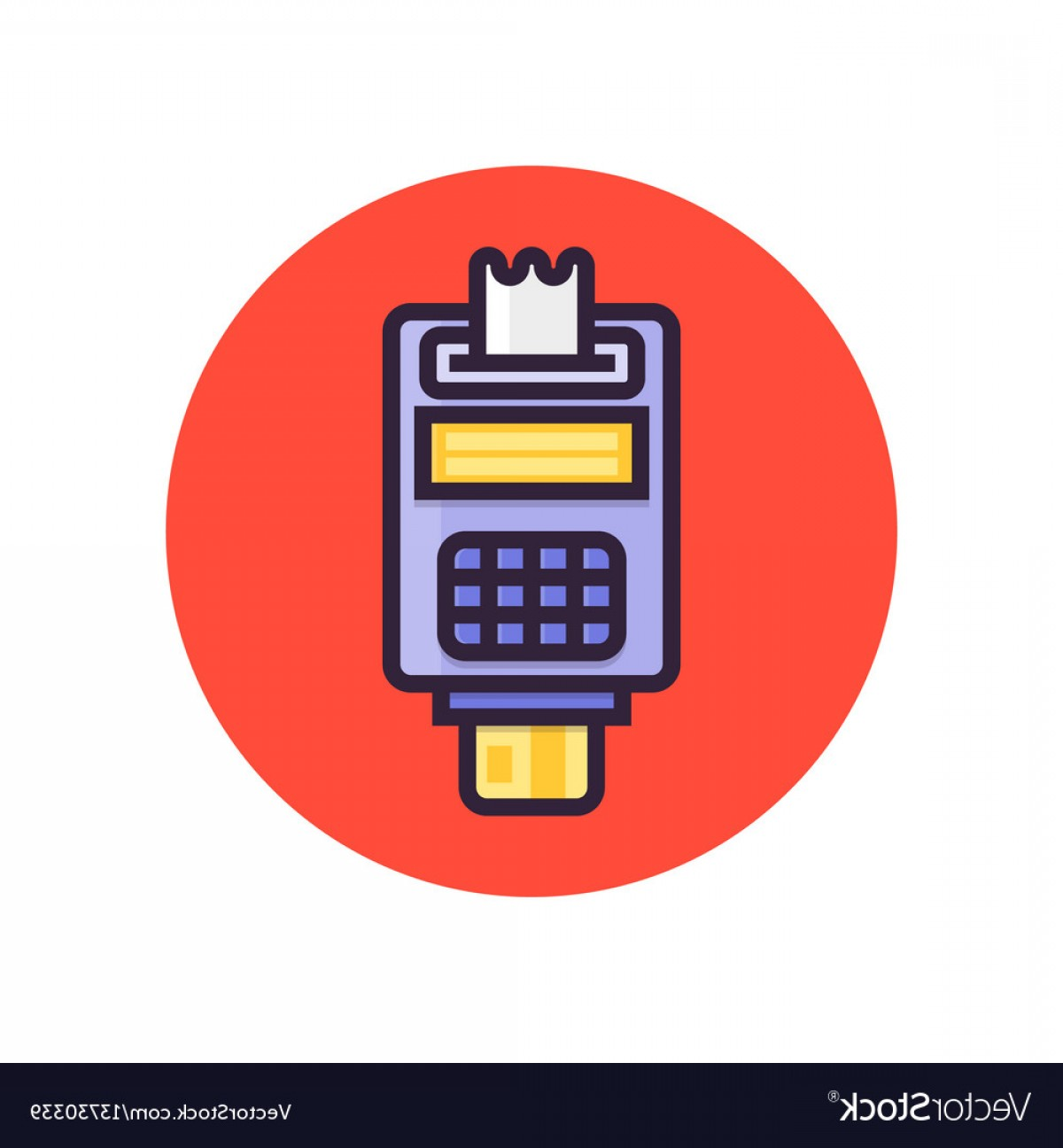Point Of Sale Icon Vector: Pos Terminal Point Of Sale Concept Payment By Vector