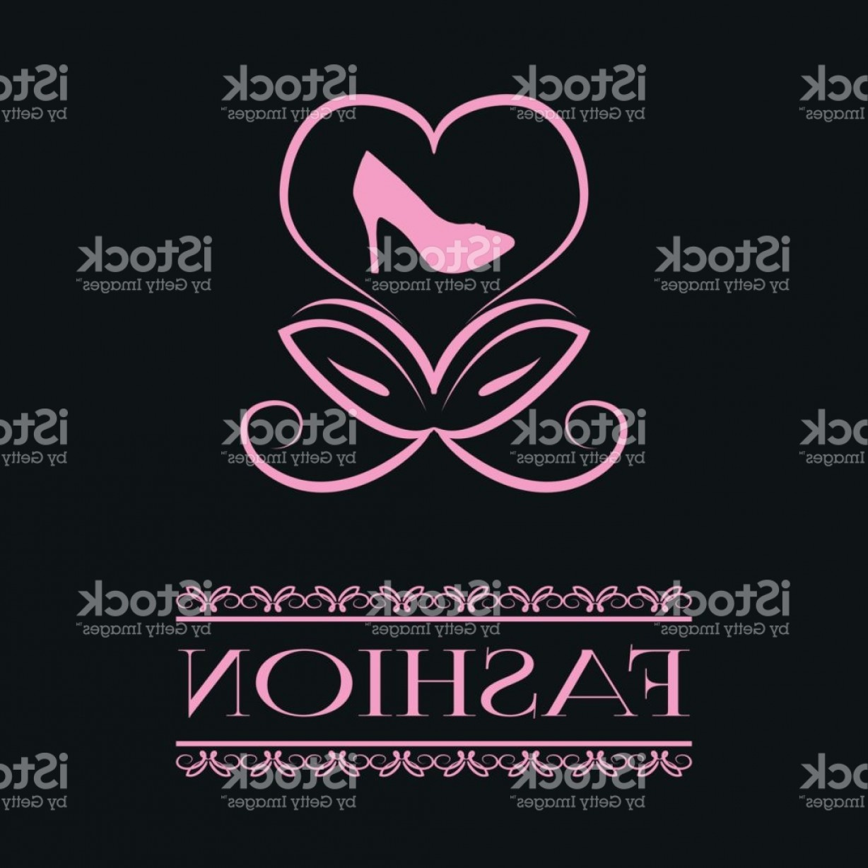 Silhouette Hee High Vector Lsitleetios: Postcard Poster Abstract Flower Bud In The Form Of A Heart And The Silhouette Of Gm