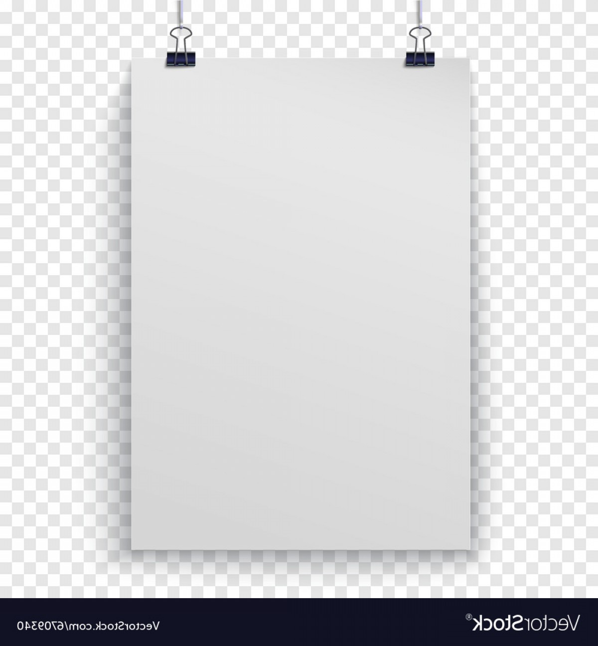 Checker Vector Template: Poster Template On Checker Background Vector