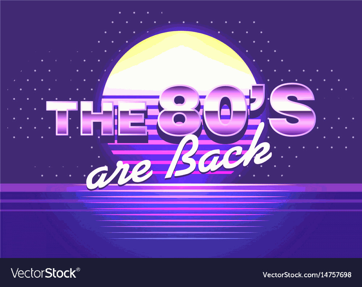 Vectorgraph 80s: Poster With Cool Design Back To The S Vector