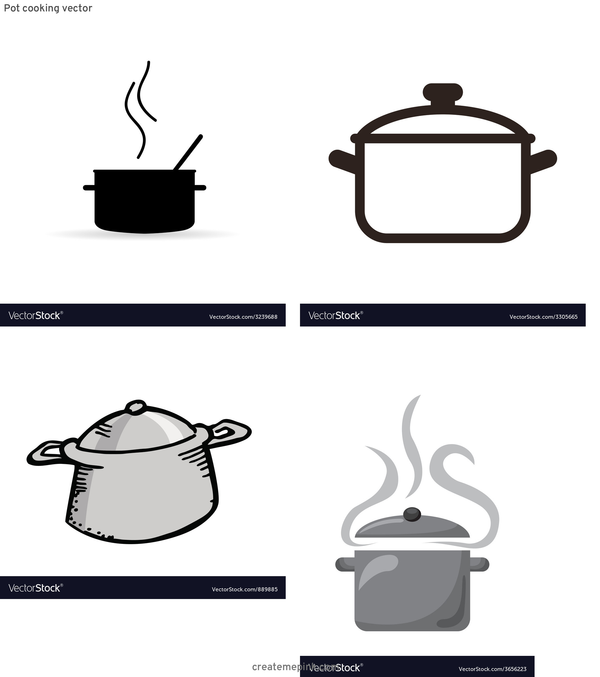 Cook Pot Vector: Pot Cooking Vector