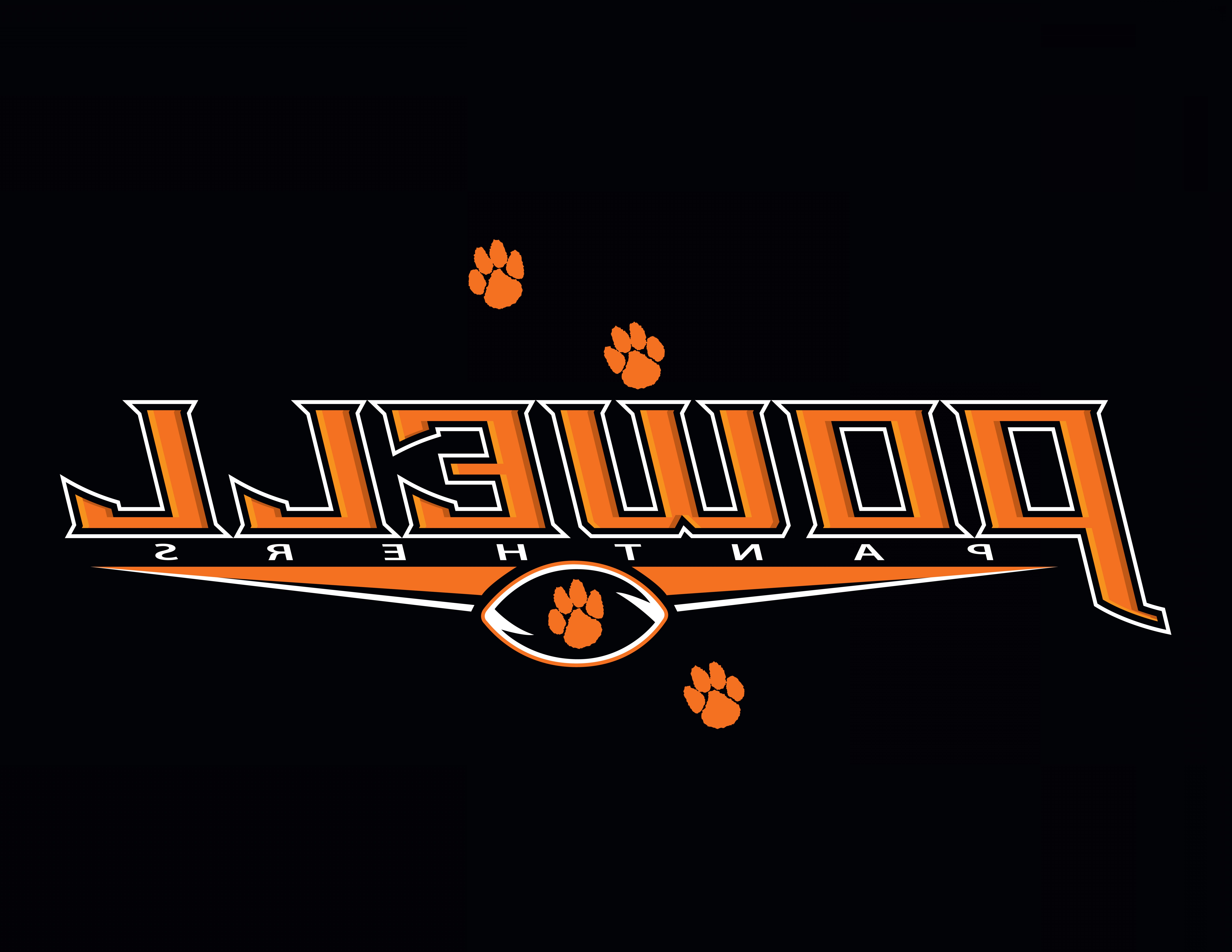 Vector Panther Football: Powell High School Football Tee Design