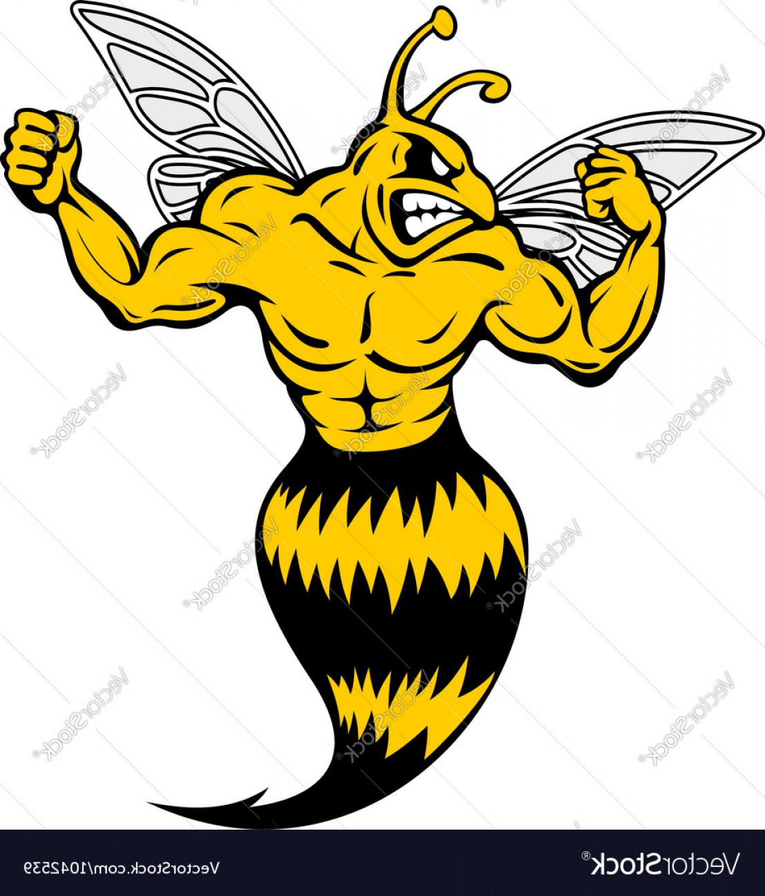 Yellow Jacket Vector Art: Powerful And Danger Yellow Jacket Vector
