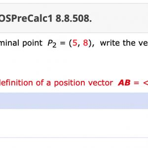 Initial And Terminal Point Vector: Points Previous Answers Osprecalc Given Initial Point P Terminal Point P Q