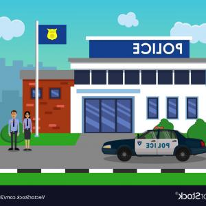 Vector Police Department: Png Police Station Building Vector Police