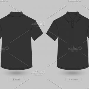 Vector White T-Shirt: Polo T Shirt Vector Mockup