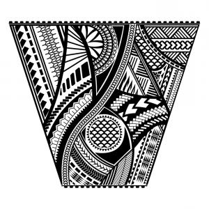 Vector Tribal Tattoo Sleeve: Tribal Tattoo Vector Design Template Sleeve