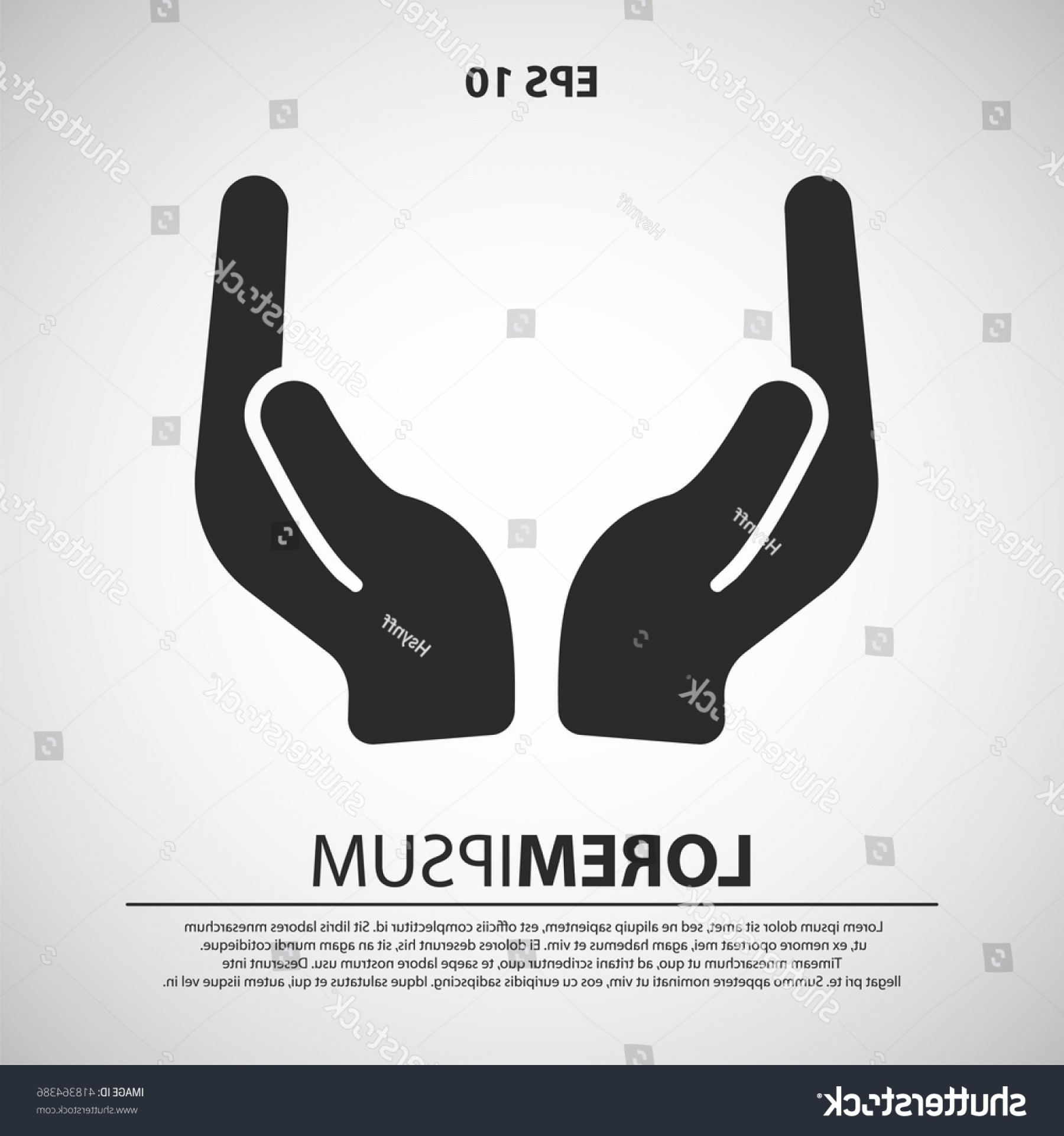 Praying Hands Vectors Shutterstock: Prayer Hand Icon Vector Illustration