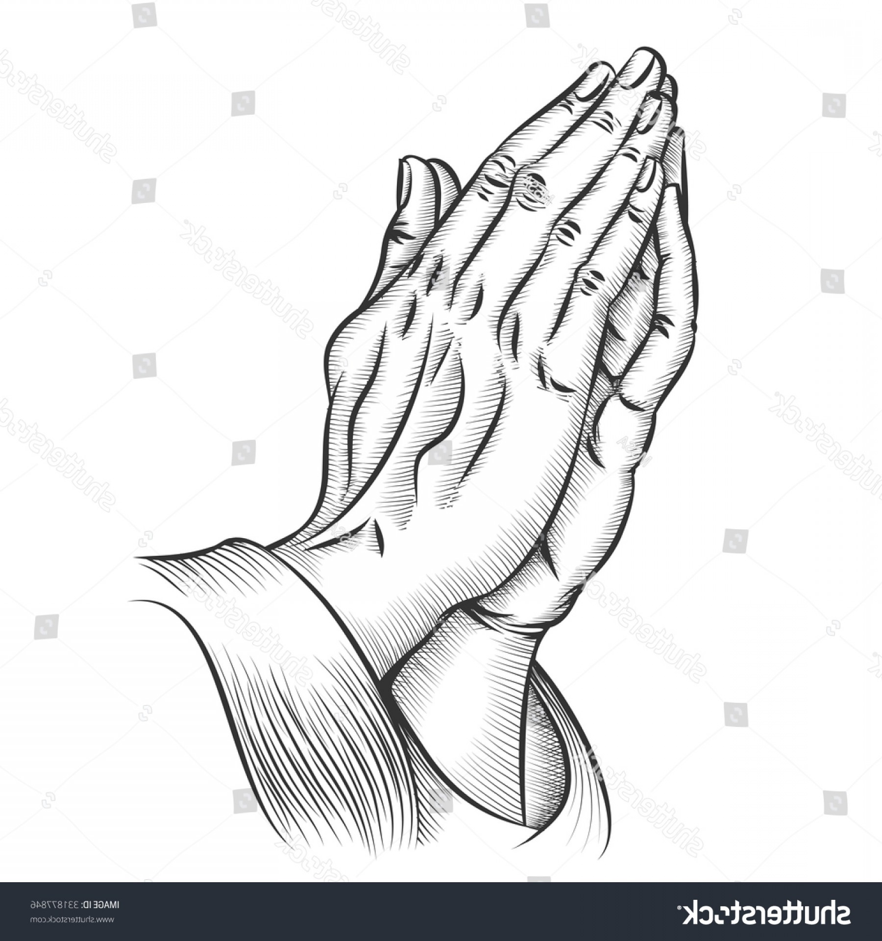 Praying Hands Vectors Shutterstock: Praying Hands Religion Holy Catholic Christian
