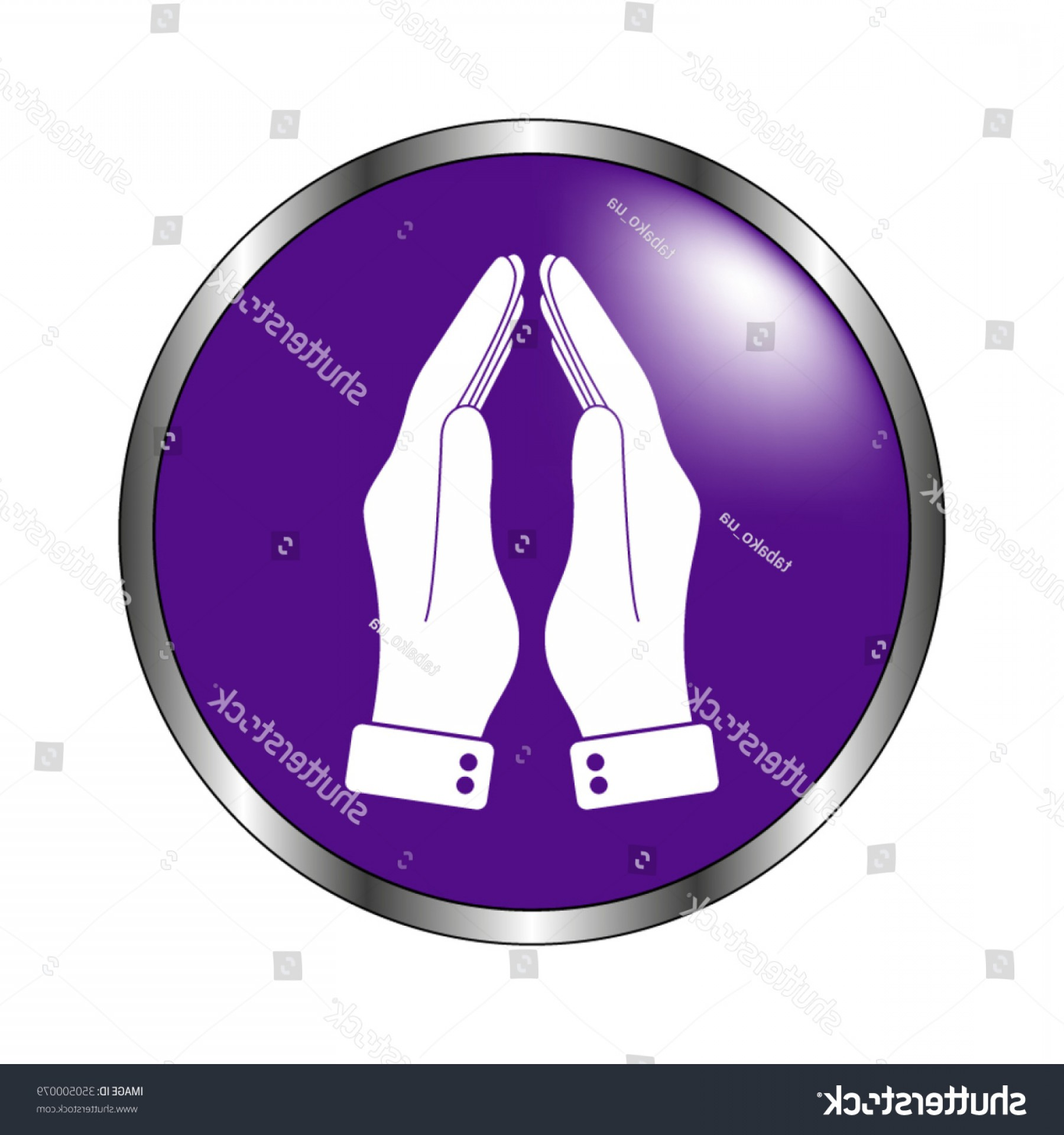 Praying Hands Vectors Shutterstock: Praying Hands Vector Icon Violet Button