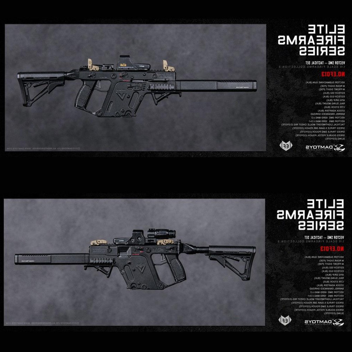 Tactical Vector: Pre Orderdamtoys Ef Ef Elite Firearms Series Tactical Set For Body Model