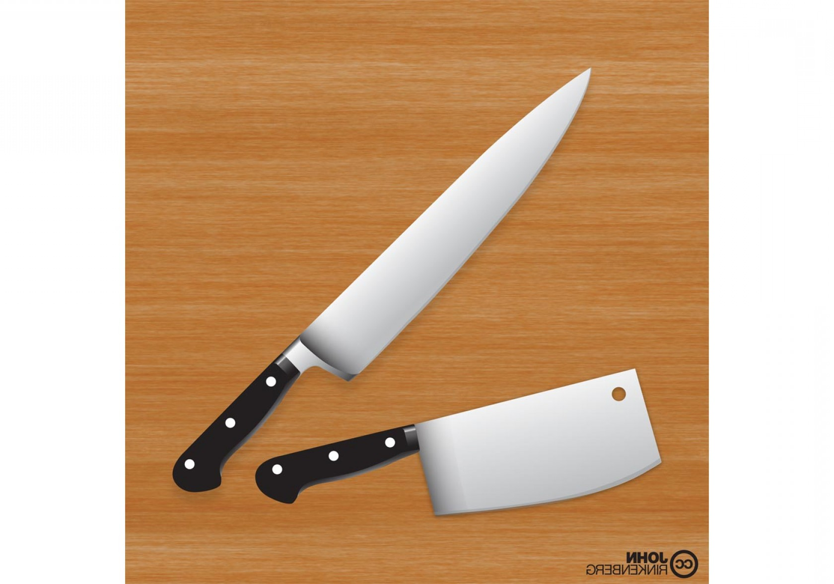 Butcher Knife Vector: Premium Chef Butcher Knife Vector Set