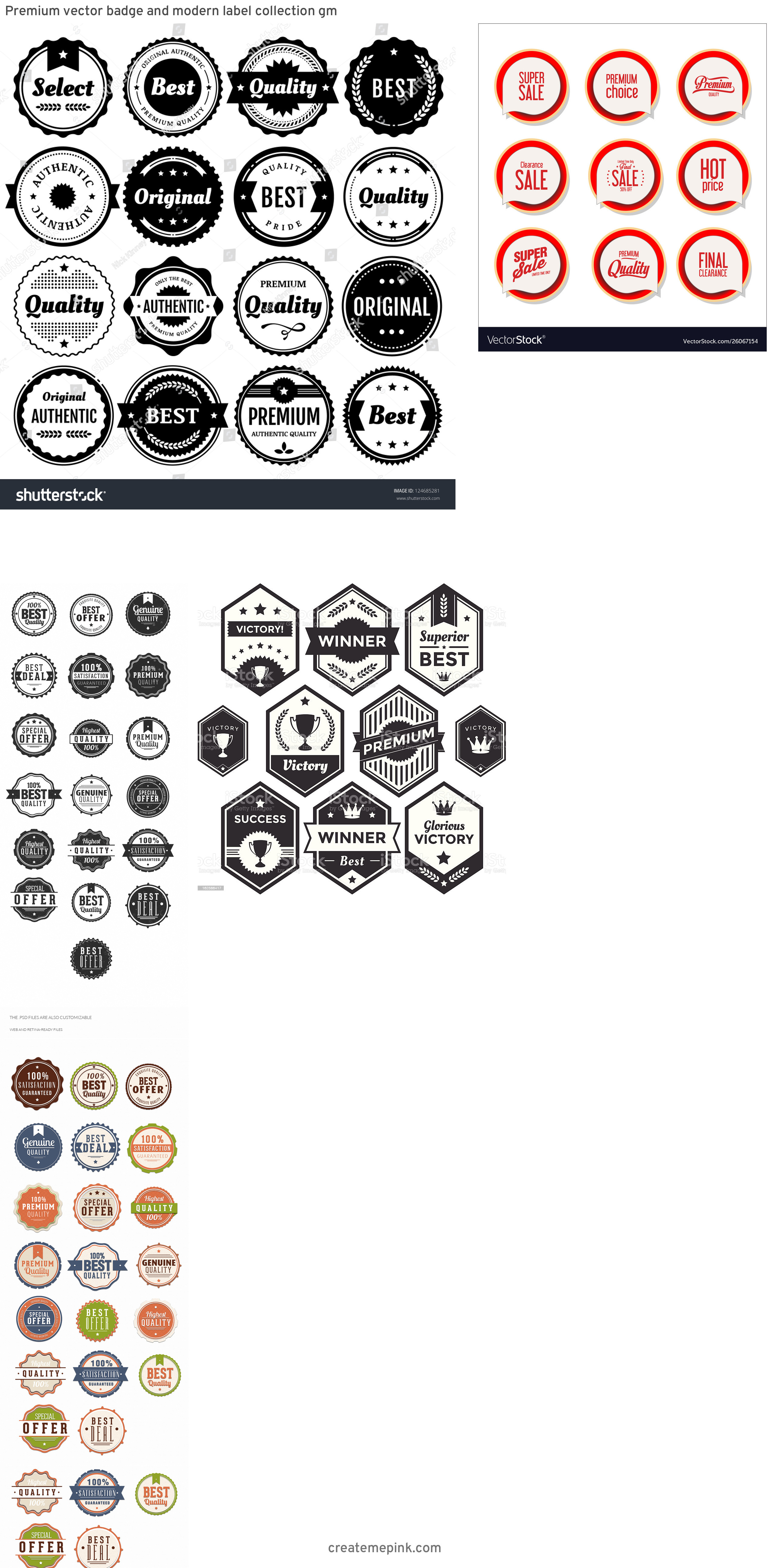 Modern Vector Badges: Premium Vector Badge And Modern Label Collection Gm