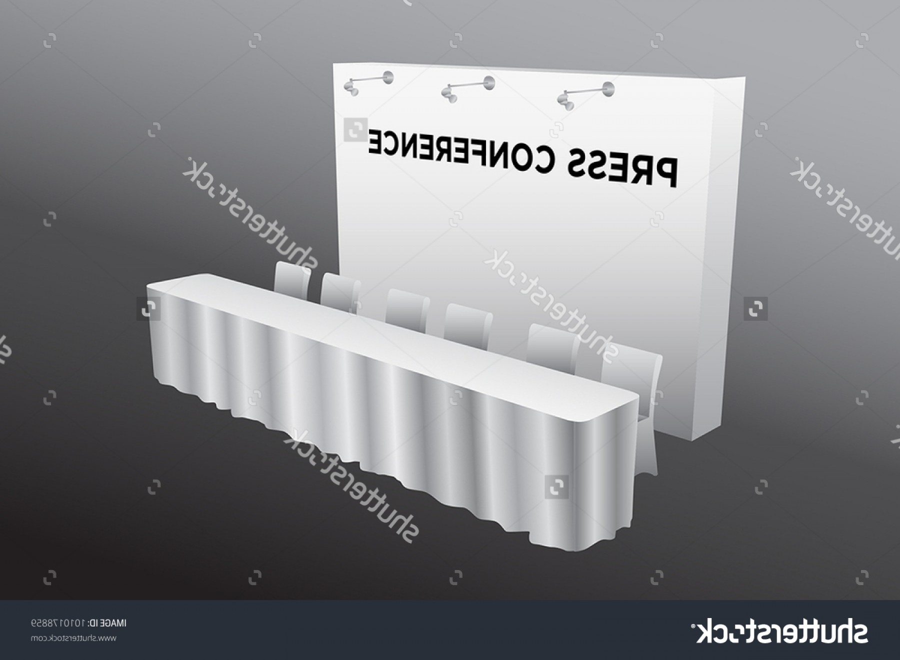 Vector Spotlight 3 Million: Press Conference Table Backdrop Spotlight White