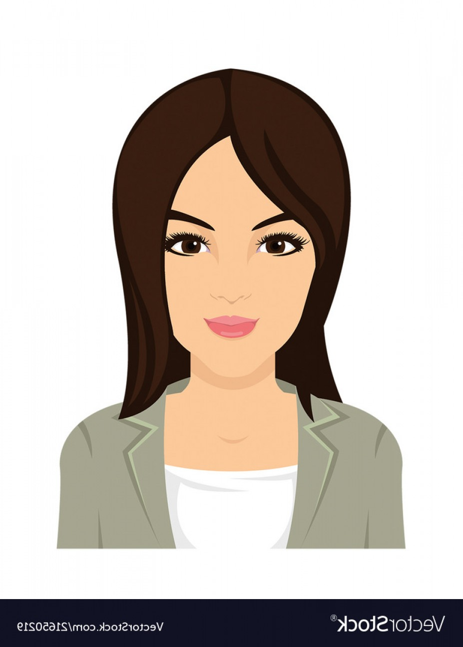 Asian Woman Vector: Pretty Asian Woman Face In Vector