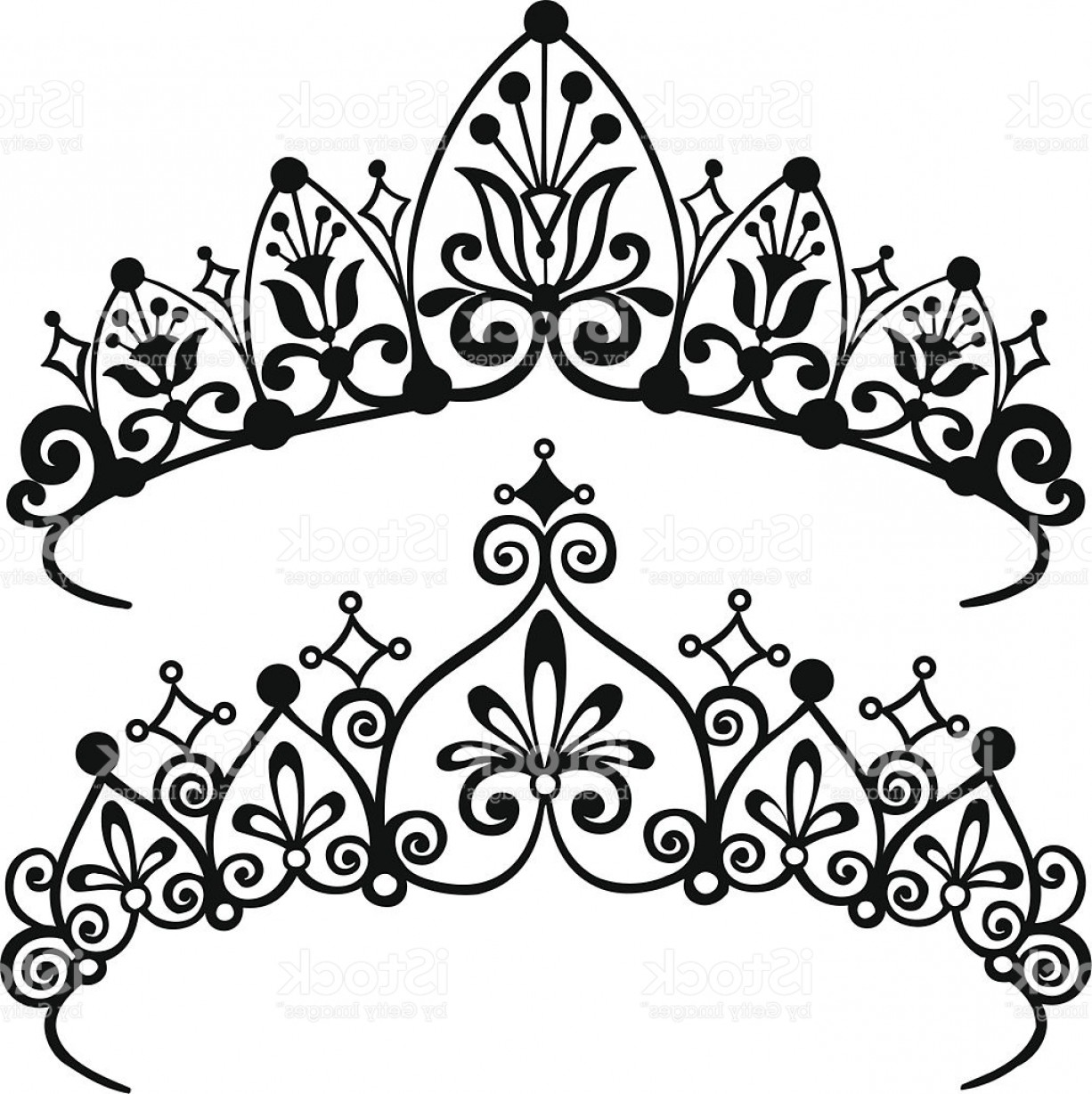 Baby Tiara Silhouette Vector: Princess Tiara Crowns Silhouette Vector Illustration Gm