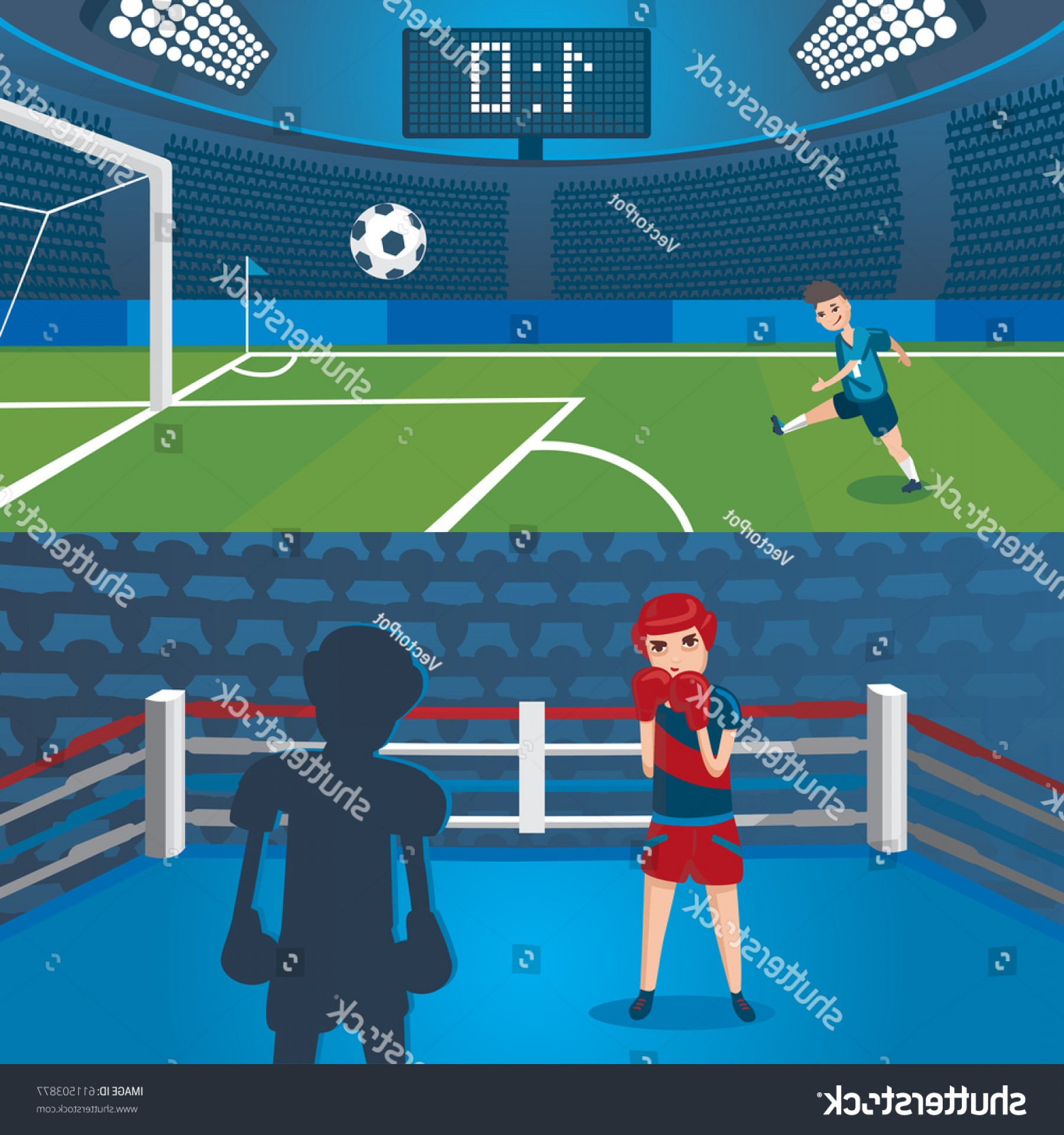 Vector Professional Goal: Professional Sport Horizontal Banners Football Player
